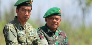 Presiden Joko Widodo dan Panglima TNI Gatot Nurmantyo. (Foto: Antara)