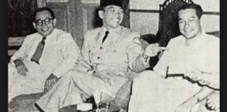 Sultan Hamid II, Soekarno dan Hatta/Foto Istimewa/Nusantaranews