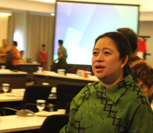 Menteri Puan Maharani usai rapat tingkat menteri di kantornya, Kamis (28/9/2017). Foto Richard Andika/ NusantaraNews
