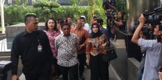 Idrus Marham saat ke KPK/Restu Fadilah/Nusantaranews