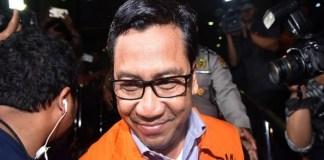 Perantara kasu suap Patrialis Akbra, Kamaludin divonis 7 tahun penjara, Senin (4/9). (Foto: Antara)
