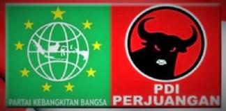 Kekuatan PKB dan PDIP di Pilgub Jatim 2018. Ilustrasi