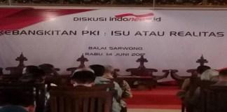 Diskusi mengenai kebangkiata PKI isu atau Realita yang diselenggarakan INDONEWS di Balai Sarwono, Rabu (14/6/2017). (Foto: Banyu/NusantaraNews)
