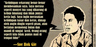 Quot Soe Hok Gie. Ilustrasi: NusantaraNews.co