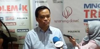 Analis komunikasi politik UIN Jakarta, Gun Gun Heryanto. Foto Ucok Al Ayubbi/ NusantaraNews