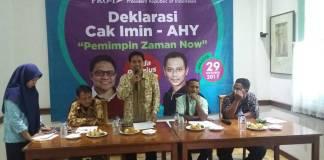 Organisasi Pro1 atau Pro-One mendeklarasikan duet Cak Imin-AHY untuk Pilpres 2019. (Foto: Ucok Al Ayubbi/NusantaraNews)