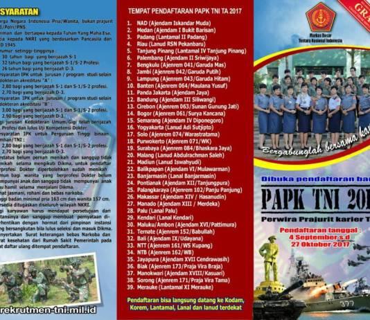 Pendaftaran Prajurit Perwira Karir Mendekati Batas Akhir. (Foto: Istimewa)