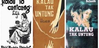 Cover Novel Kalau tak Untung dalam beberapa cetakan II karya Sariamin, Novelis Perempuan Pertama Indonesia. Ilustrasi foto: NNCart/ NusantaraNews