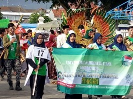 Gerebeg santri diikuti mahasiswa UNU Yogyakarta (Foto Istimewa/Nusantaranews)