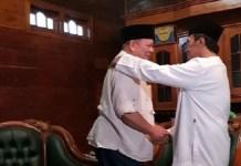 Sesepuh Nganjuk Doakan La Nyalla Jadi Gubernur Jatim. Foto Tri Wahyudi/ NusantaraNews
