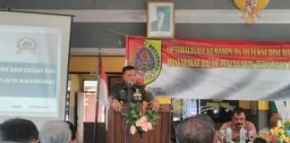 Kepala Staf Kodim 0824 (Kasdim 0824) Mayor Inf Robertus Arda Ajak Komponen Masyarakat Peduli Keamanan Lingkungan. (Foto: Istimewa)