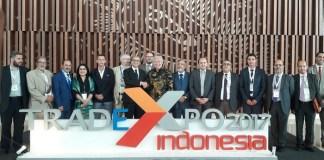 Foto Bersama di di Trade Expo Indonesia 2017, BSD, Tangerang, Jumat (13/10/2017). Foto Richard Andika/ NusantaraNews