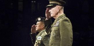 Jenderal Gatot Nurmantyo dan Jenderal Joseph Dunford di Pentagon, Februari 2016. Foto: Dok. defense.gov