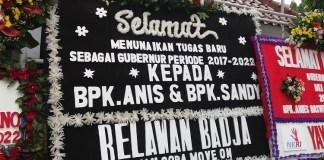 Karangan Bunga dari Relawan Badja (Foto: Restu Fadilah/Nusantaranews)