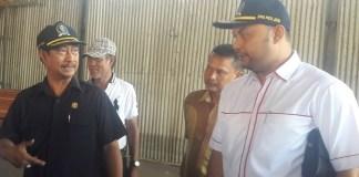 Ketua Komisi E DPRD Jatim, Hartoyo di Lokasi Relokasi (Foto: Tri Wahyudi/Nusantaranews)
