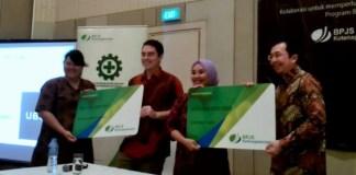 Mitra Pengemudi yang tersanjung dengan program jaminan sosial. Foto Ach. Sulaiman/ NusantaraNews
