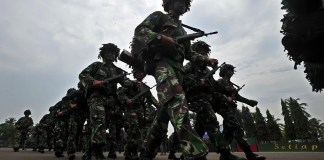 Prajurit Tentara Nasional Indonesia (TNI). (Foto: Antara)