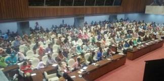 Ratusan petani dari Lamongan dan Gresik Sampaikan Aspirasi ke DPR (Foto: Ucok Al Ayyubi/Nusantaranews)