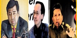 Setya Novanto (Setnov), Honggo Wendratno dan Raden Priyono pemegang Pusaka Sakti Hukum Mandraguna. Foto Ilustrasi NusantaraNews/ NNCart