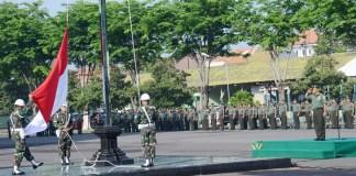 Kodam V/Brawijaya menggelar upacara peringatan Hari Sumpah Pemuda. Foto Dodiet Lumwartono/ NusantaraNews