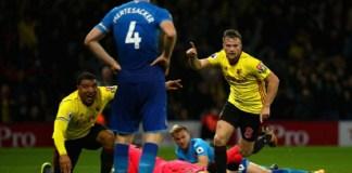 Tom Cleverley sukses membawa Watford menundukkan Arsenal. (Foto: Squawka)