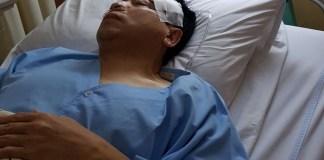 Ketua Umum Partai Golkar Setya Novanto terbaring sakit usai mengalami kecelakaan saat menuju ke gedung KPK pada Kamis (16/11) malam. Foto: Istimewa
