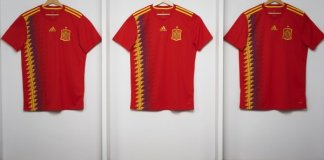 Jersey Timnas Spanyol (Foto via @roninokom)