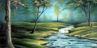 Lukisan Sungai (Ilustrasi). Foto: Dok. WallpaperSafari