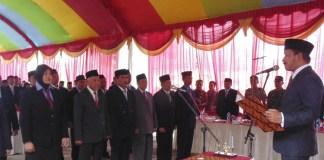 Bupati Ponorogo Lantik Badan Permusyawaratan Desa (Foto: Nurcholis/Nusantaranews)