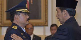 Marsekal TNI Hadi Tjahjanto, Panglima TNI pilihan Joko Widodo. Foto: Rosa Panggabean/Via Antara Photo