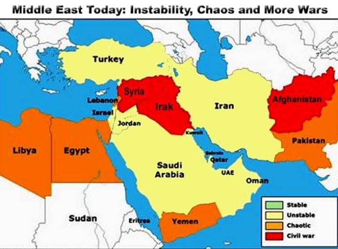 Peta Kawasan Timur Tengah