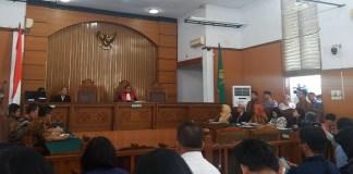 Sidang praperadilan Setnov jilid II (Foto Restu Fadilah/Nusantaranews.co)