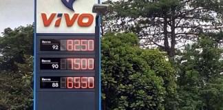 Harga BBM di SPBU VIVO/Foto: Tribunnews