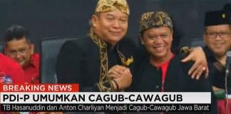 Megawati Umumkan TB Hasanuddin dan Anton Charliyan Sebagai Cagub-Cawagub Jabar. Foto: Crop by NusantaraNews.co