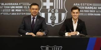 Coutinho tanda tangi kontrak bersama Blaugrana (Foto Dok Barcelona)