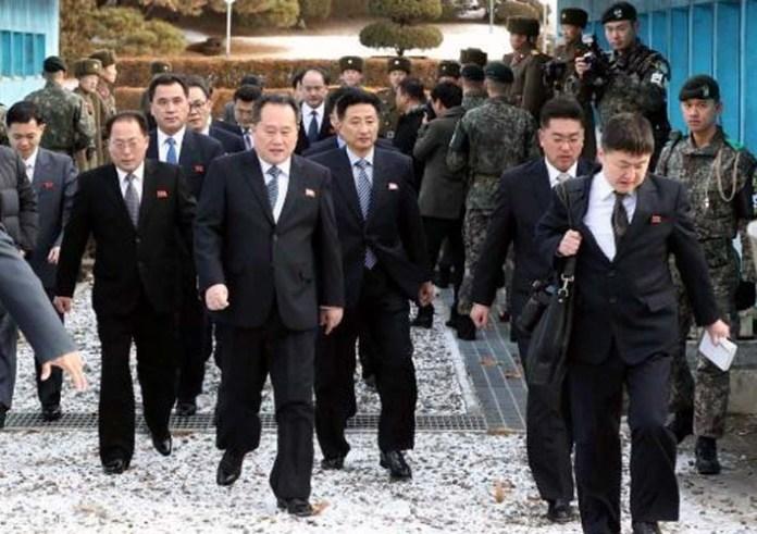 Delegasi Korea Utara/Foto: abc.net.au