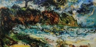 "Parangtritis Beach, karya Affandi, Foto karya berasal dari buku ""Affandi Vol I,II,III"", koleksi Perpustakaan IVAA. Dok. archive.ivaa-online.org"