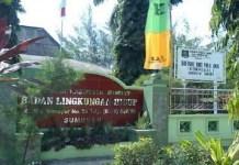 Tampak dari depan Depan Kantor Dinas Lingkungan Hidup Kabupaten Sumemep Madura. Foto: Danil Hidayat/NusantaraNews