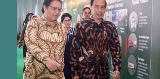 Menteri Perindustrian Airlangga Hartarto bersama Presiden Joko Widodo. (FOTO: NUSANTARANEWS.CO/Humas Kemenperin)