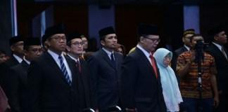 Kepala Dinas Kebudayaan dan Pariwisata Aceh Reza Fahlevi secara resmi dilantik sebagai Asisten Deputi (Asdep) Pengembangan Destinasi Regional II Kementerian Pariwisata (Kemenpar) RI yang berlangsung Rabu (28/2/2018) di Balairung Soesilo Soedarman Gedung Sapta Pesona, Jakarta. (Foto: Istimewa/NusantaraNews)