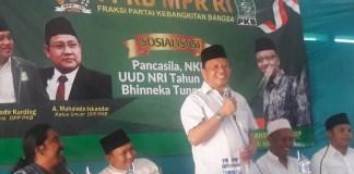 Sosialisasi Empat Pilar, Syaiful Bahri Anshori Minta Masyarakat Pedomani Nilai-Nilai Pancasila. Foto: nusantaranews.co/Syaefuddin A