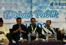 """Diskusi Publik bertajuk """"UU MD3: Tameng Parlemen?"""" oleh Pengurus Besar Pergerakan Mahasiswa Islam Indonesia (PB PMII), Kamis 22 Februari 2018 di lantai 1 Kantor PB PMII. (FOTO: PB PMII)"""