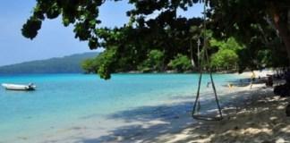 Pantai Lanaga di Desa Peunaga, kota Meulaboh, Aceh Barat. Foto: Antara
