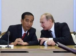Presiden Putin dan Presiden Jokowi. Foto: Tribunnews