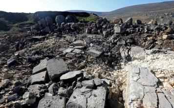 Kuil kuno Ain Dara, sekitar 7 kilometer dari Afrin, Suriah, mengalami kerusakan parah, pada 29 Januari 2018. Foto: AFPBB News