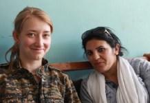 Seorang militan Unit Perlindungan Perempuan (YPJ) Anna Campbell (kiri) tewas di kota Afrin. (Foto: Handout The Guardian)