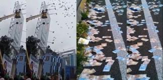 hujan uang yang terjadi di kawasan Jalan HR Rasuna Said, Kuningan, Jakarta Selatan (Foto Ilustrasi Nusantaranews.co)