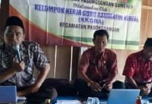 Kelompok Kerja Guru Raudlatul Athfal gelar Bimbingan teknis pembelajaran di RA Al Azhar Desa Perancak Kecamatan Pasongsongan, Sumenep, Kamis (22/3/ 2018). (FOTO: NUSANTARANEWS.CO/Fath)