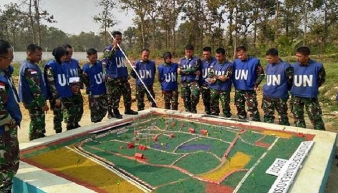 Sebanyak 45 Prajurit TNI melaksanakan Peacekeeping Exercise Shanti Doot-4 2018 di Bangladesh. (Foto: Puspen TNI)