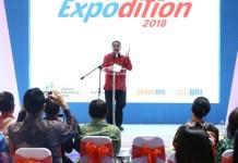 Menteri Pariwisata (Menpar) Arief Yahya saat memberikan sambutan dalam acara pameran Lion Air Group Expodition 2018 di Main Atrium, Gandaria City Jakarta, Jumat (16/3/2018). (FOTO: Humas Kemenpar)